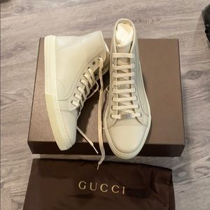 NWT Gucci high top leather sneakers